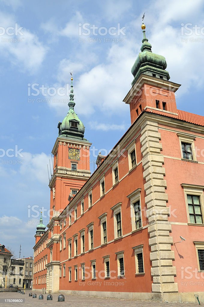 Castle Square in Warsaw royalty-free stock photo