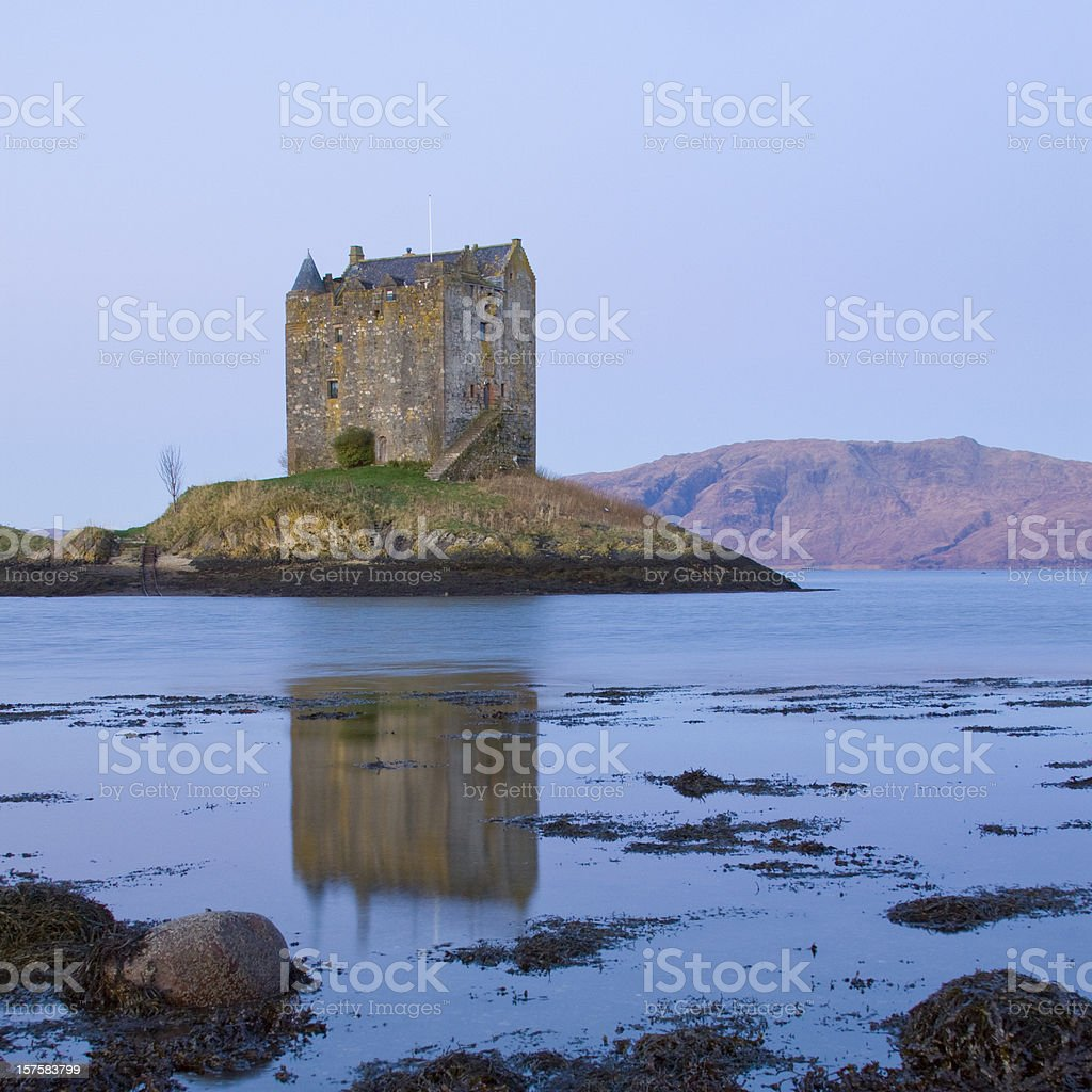 Castle Stalker, Loch Linnhe in the beautiful Highlands of Scotland. royalty-free stock photo