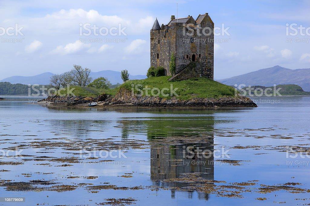 castle stalker loch linnhe scotland highlands stock photo
