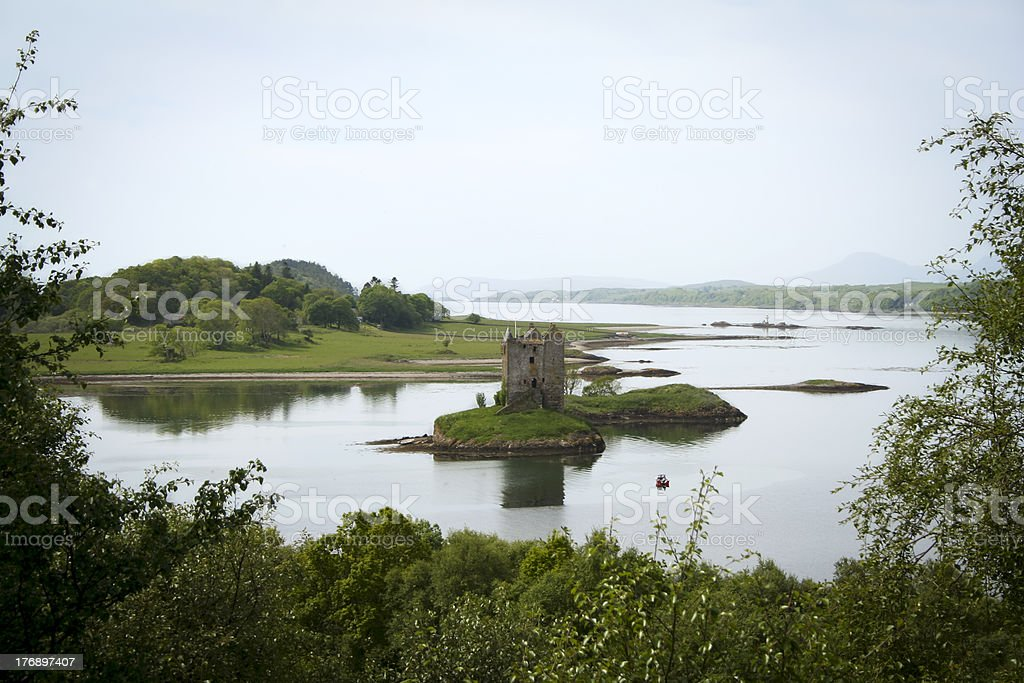 castle stalker loch linnhe scotland royalty-free stock photo