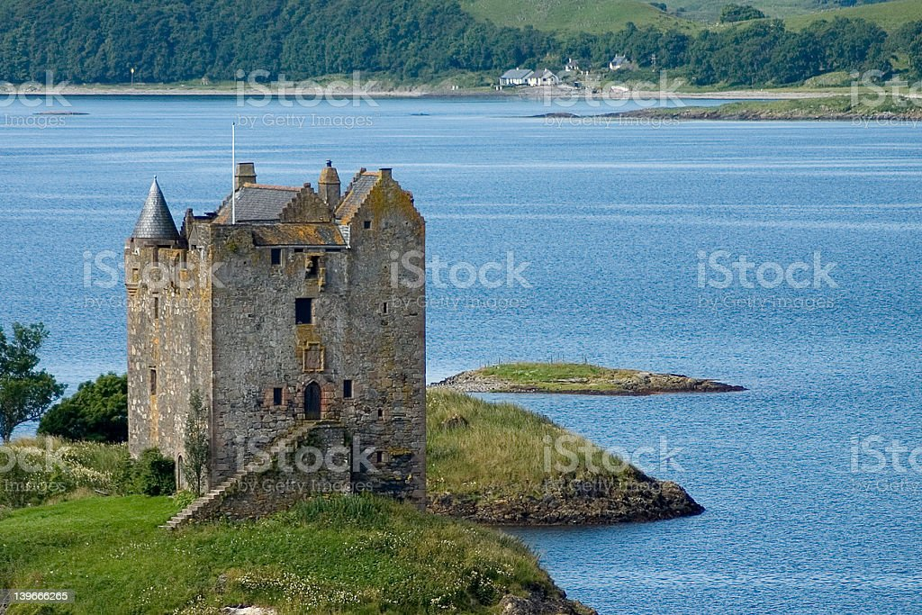 Castle Stalker royalty-free stock photo