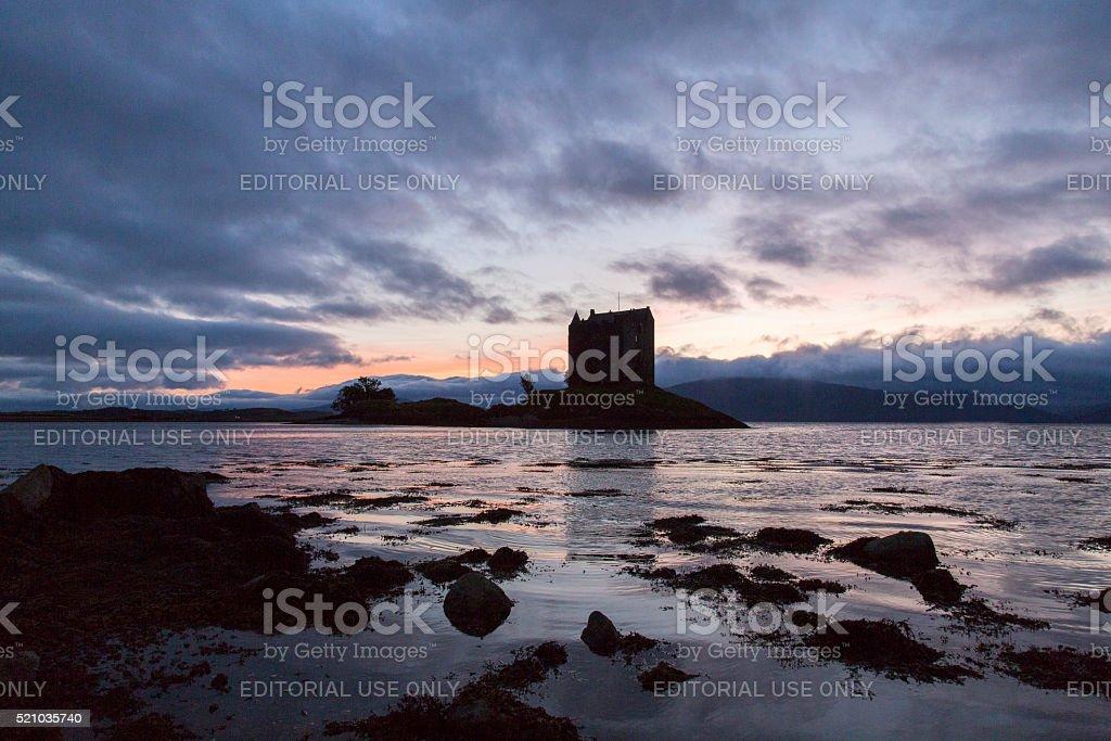 Castle Stalker - Silhouette stock photo