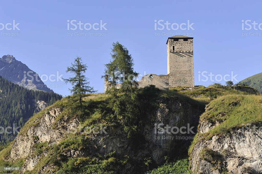 Castle Steinsberg Ruins royalty-free stock photo