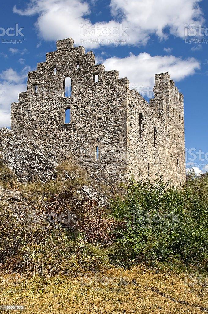 Castle Tourbillon, Sion stock photo