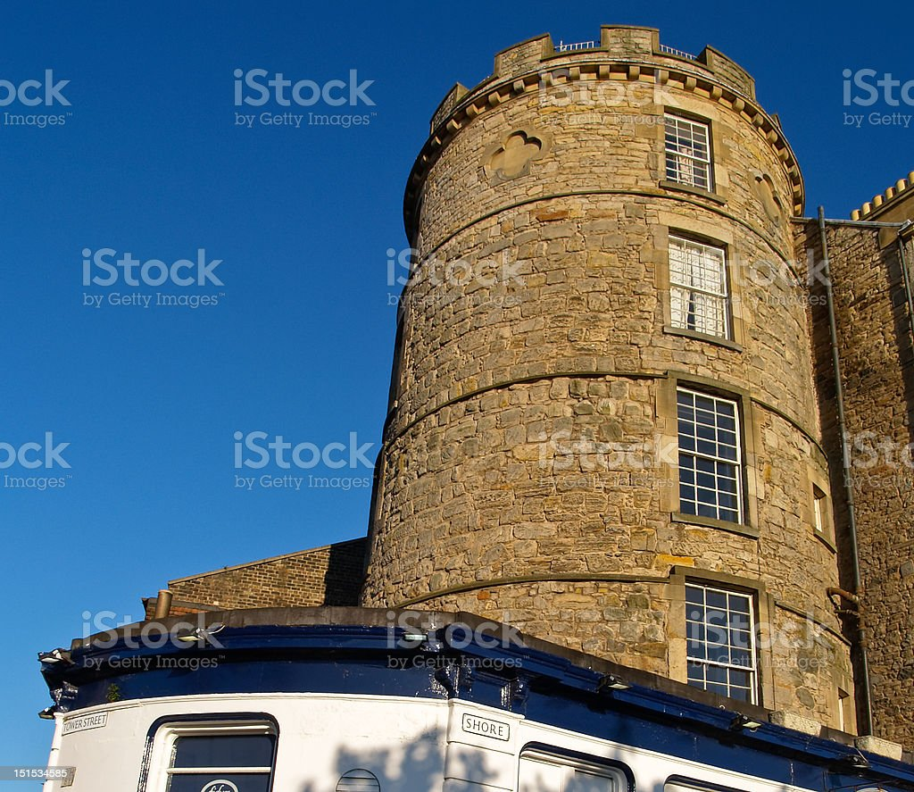 Castle tower. stock photo