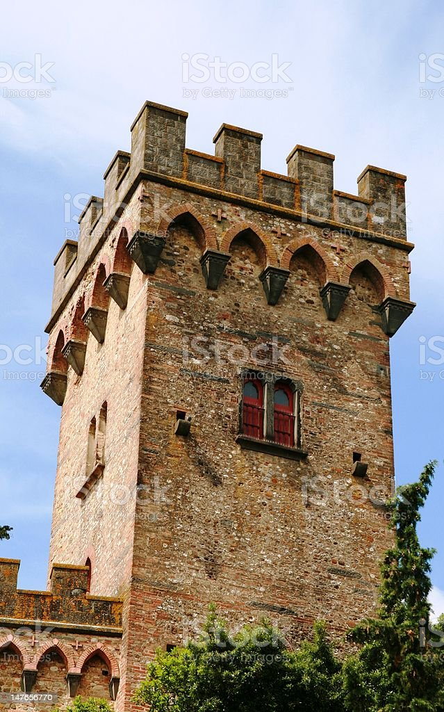 Castle Tower - View from Outside stock photo
