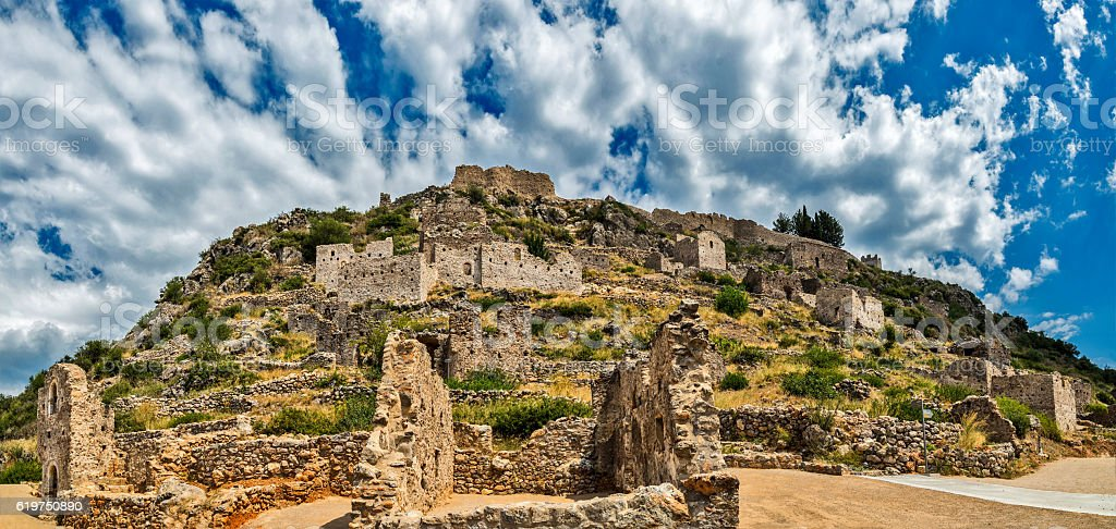 Castle town of Geraki, Greece stock photo