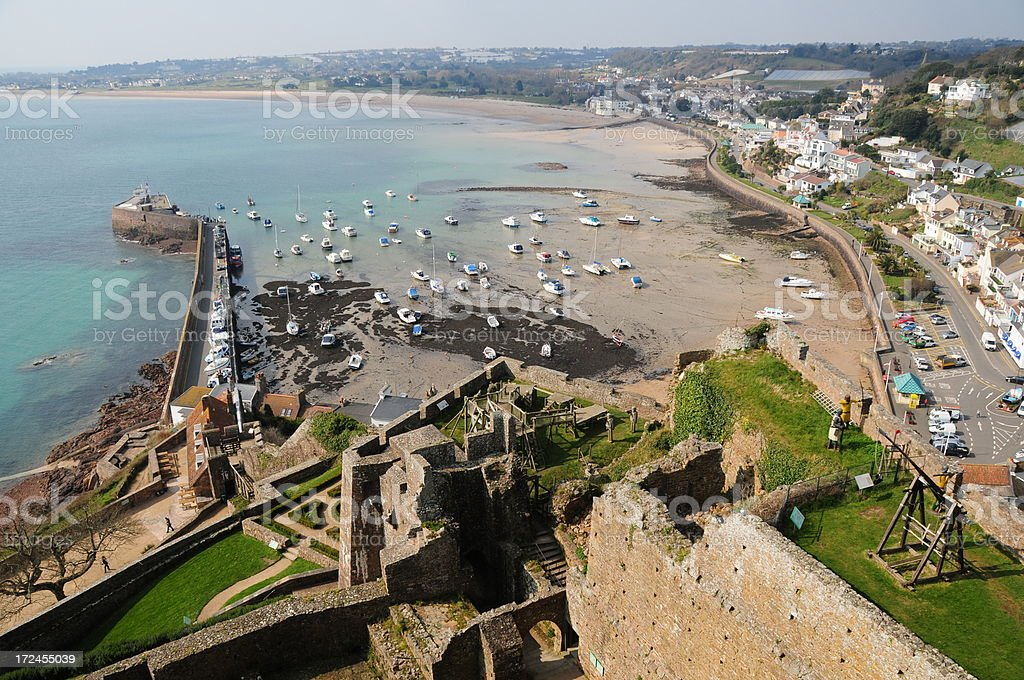 Castle view, Jersey stock photo