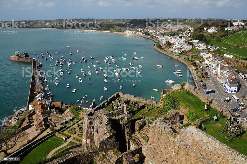 'Castle view, Jersey.' stock photo