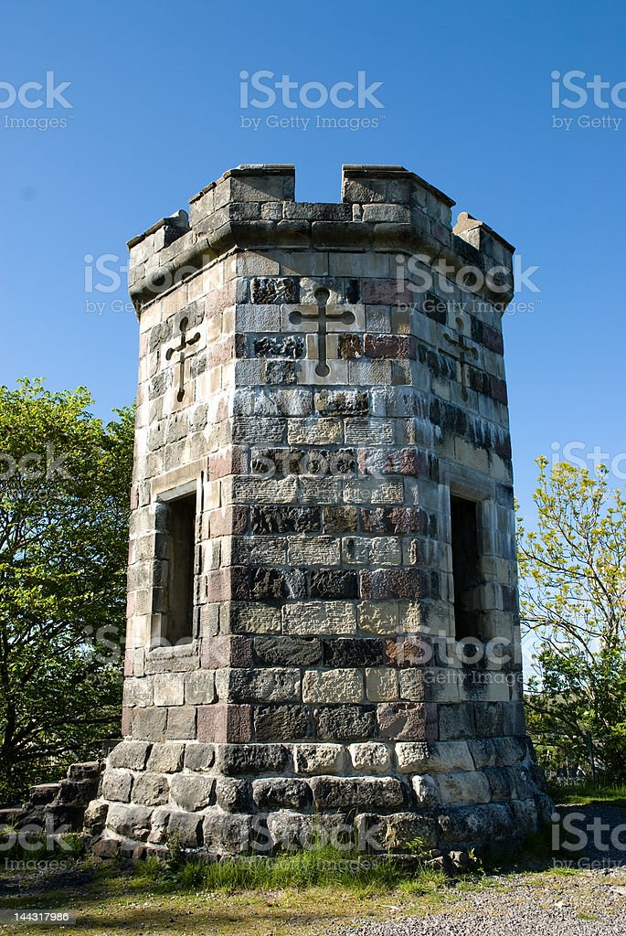 Castle Watch Tower royalty-free stock photo