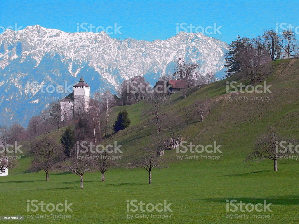 Castle Werdenberg stock photo