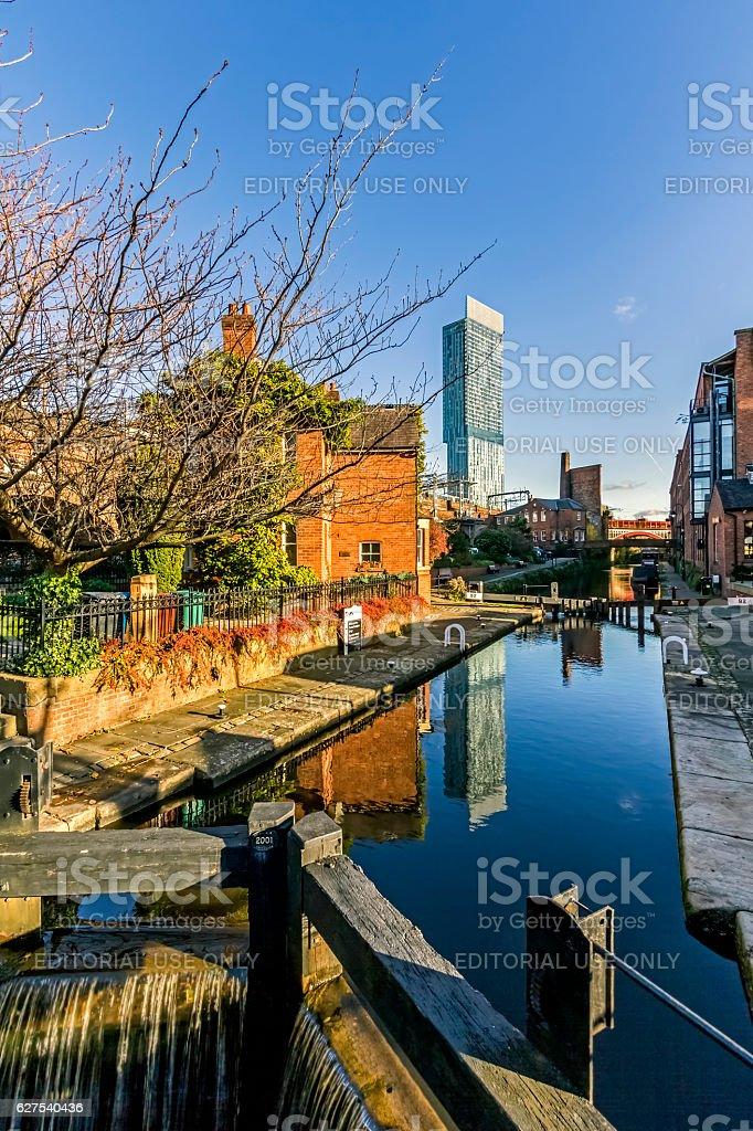 Castlefield Manchester stock photo