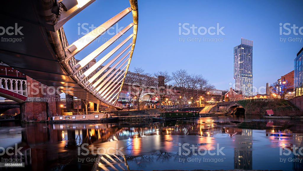Castlefield Manchester UK stock photo