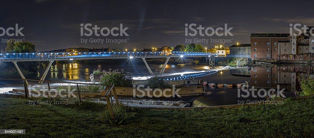 Castleford footbridge. stock photo