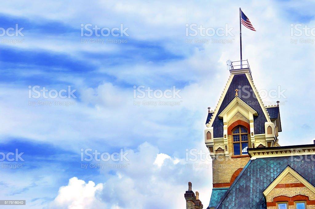 Castle-Like Courthouse stock photo