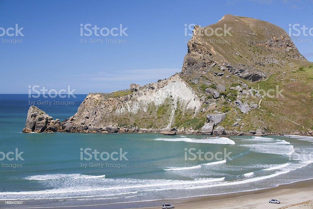 Castlepoint Bay stock photo
