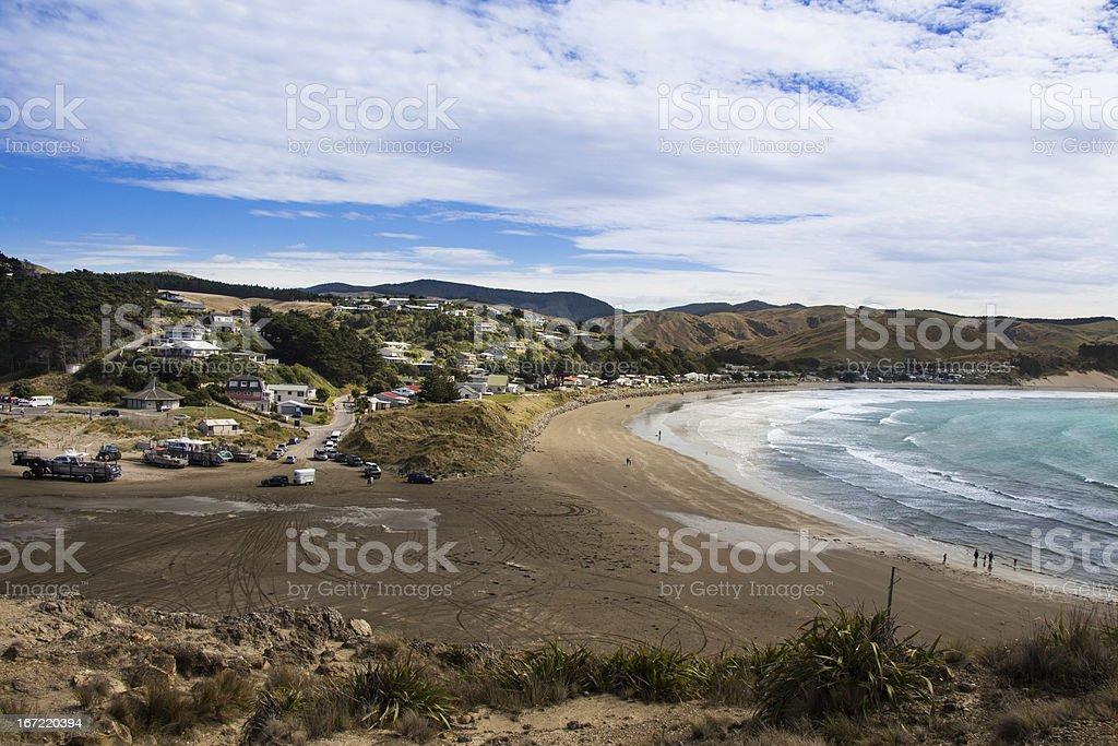 Castlepoint Beach stock photo