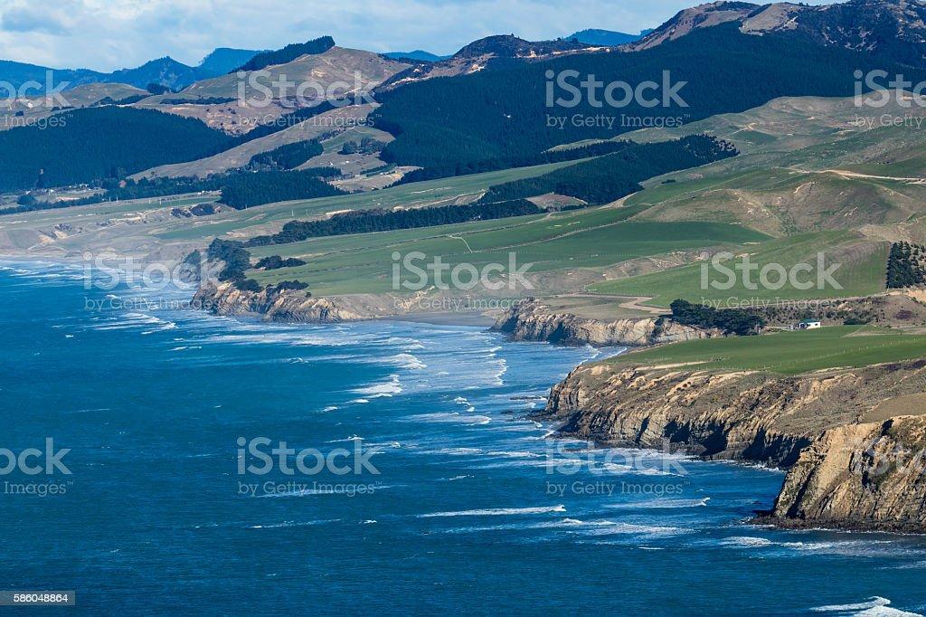 Castlepoint Coastline stock photo