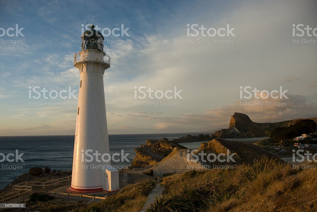 Castlepoint Lighthouse at Dawn stock photo