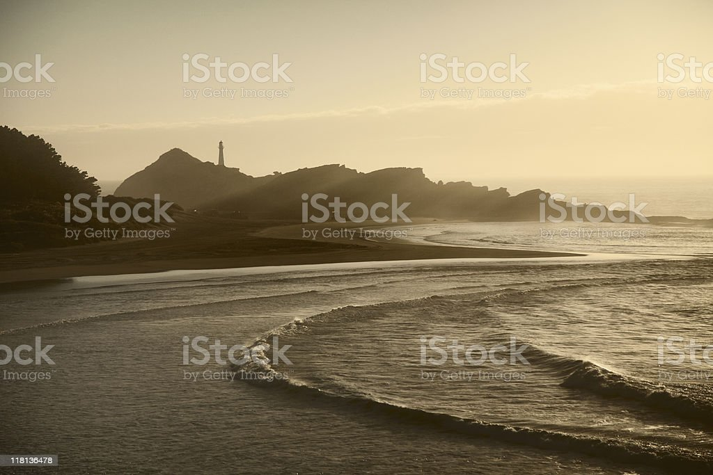 Castlepoint lighthouse in morning light royalty-free stock photo