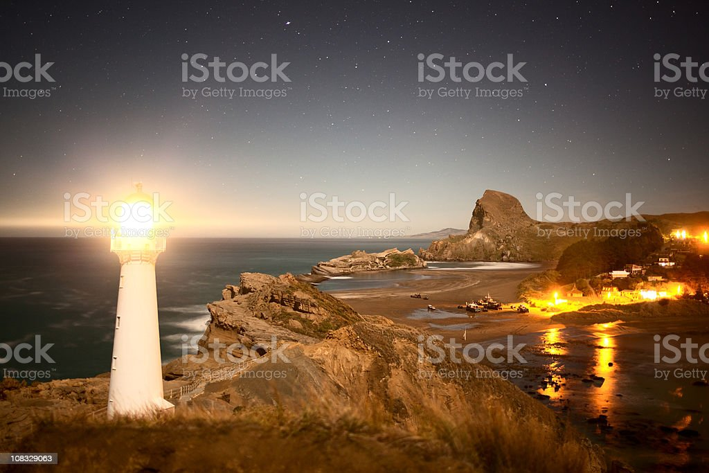 Castlepoint Lighthouse royalty-free stock photo