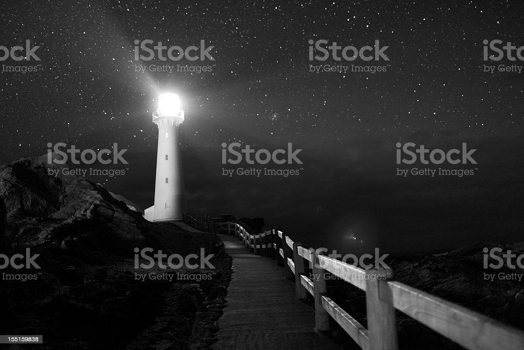 Castlepoint Lighthouse stock photo