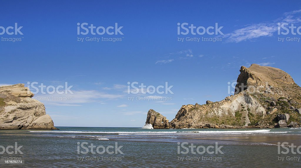 Castlepoint sea enterance stock photo