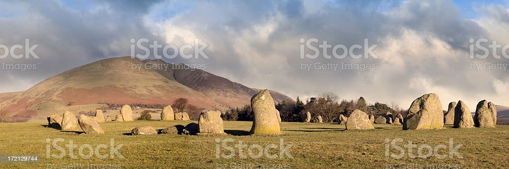 Castlerigg, a Neolithic Stone Circle in the English Lake District stock photo