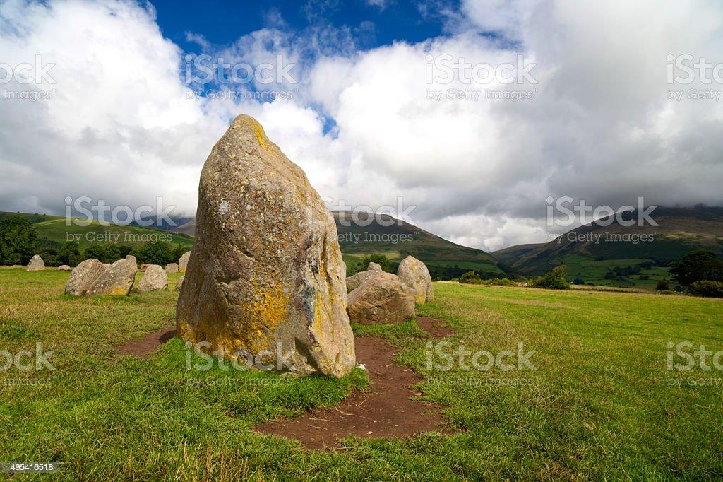 Castlerigg Standing Stones stock photo