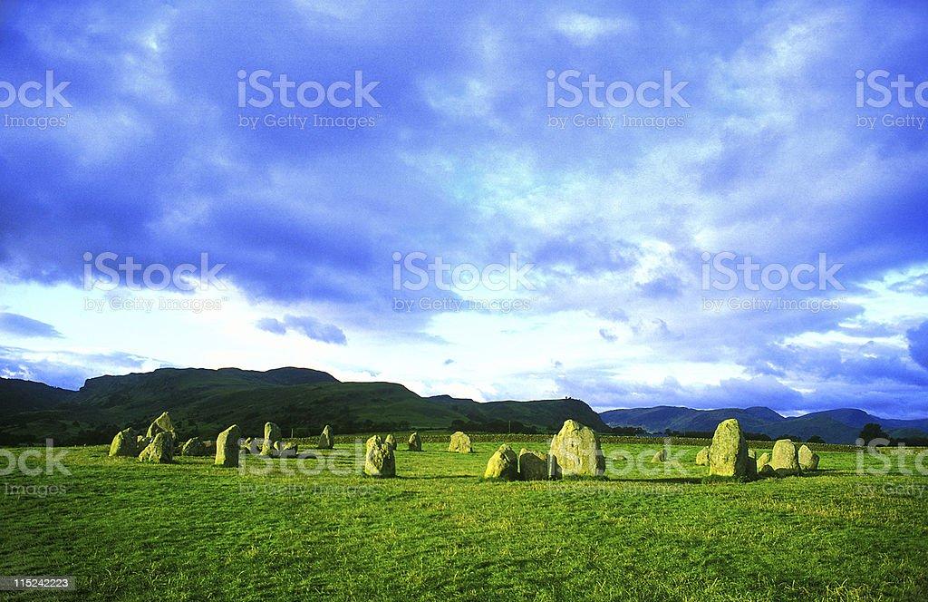 Castlerigg stone circle at sunrise - Cumbria stock photo