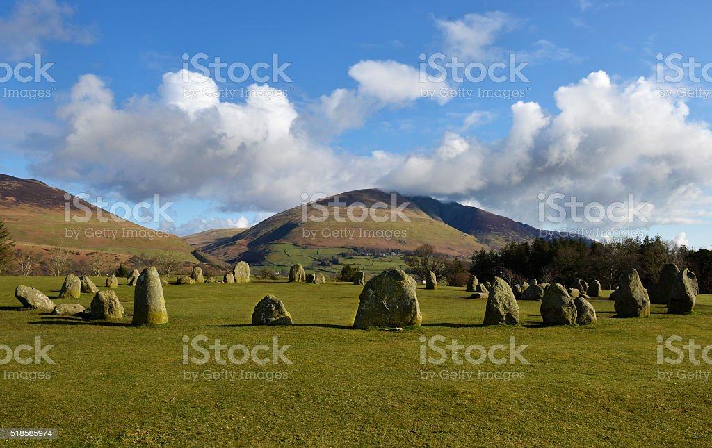 Castlerigg Stone Circle in English Lake District stock photo