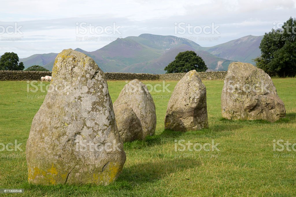 Castlerigg Stone Circle, Keswick; Lake District; England stock photo