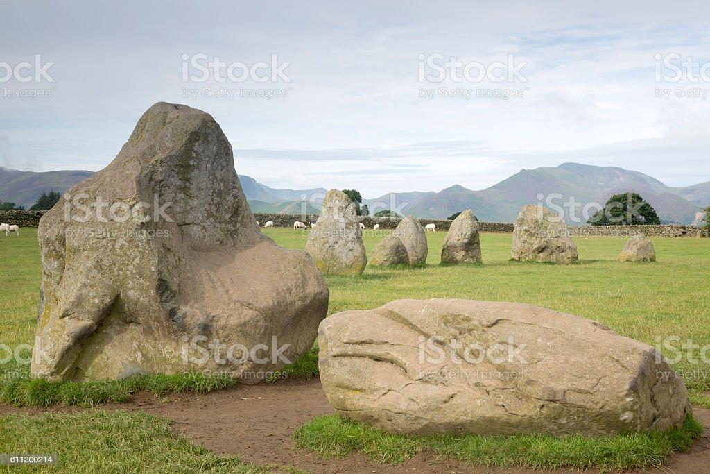 Castlerigg Stone Circle, Keswick; Lake District stock photo