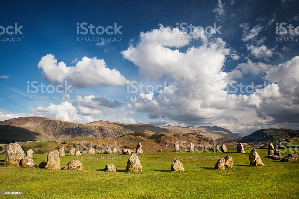 Castlerigg Stone Circle, Keswick stock photo