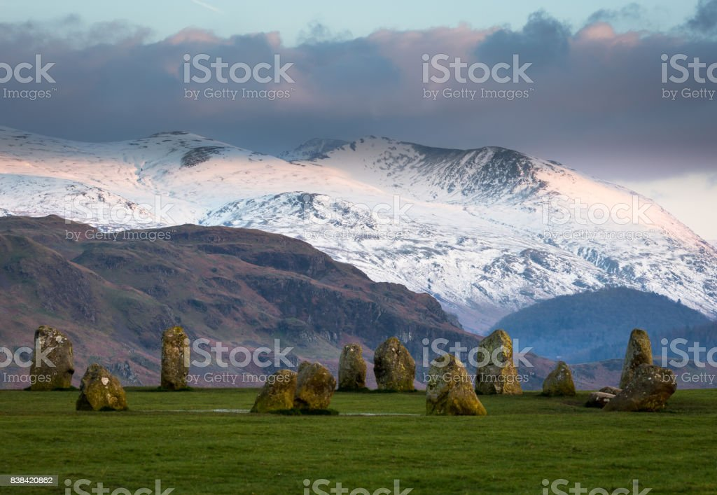 Castlerigg Stone Circle - Lake District stock photo