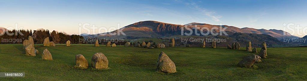 Castlerigg stone circle Lake District UK stock photo
