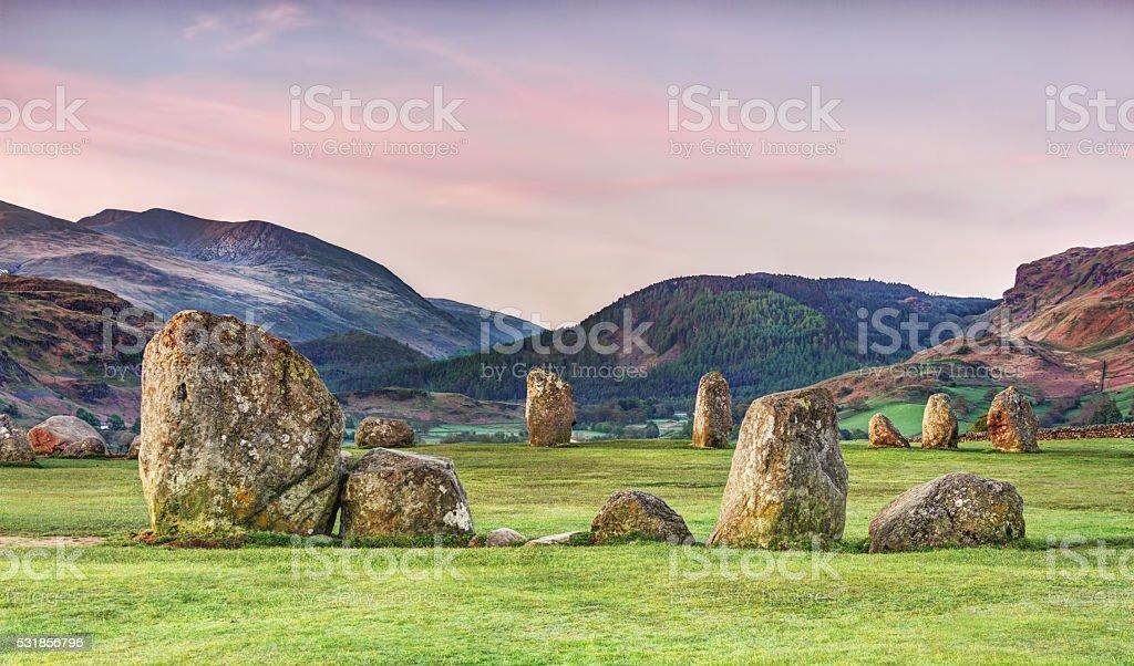 Castlerigg stone circle ,Lake District,England stock photo