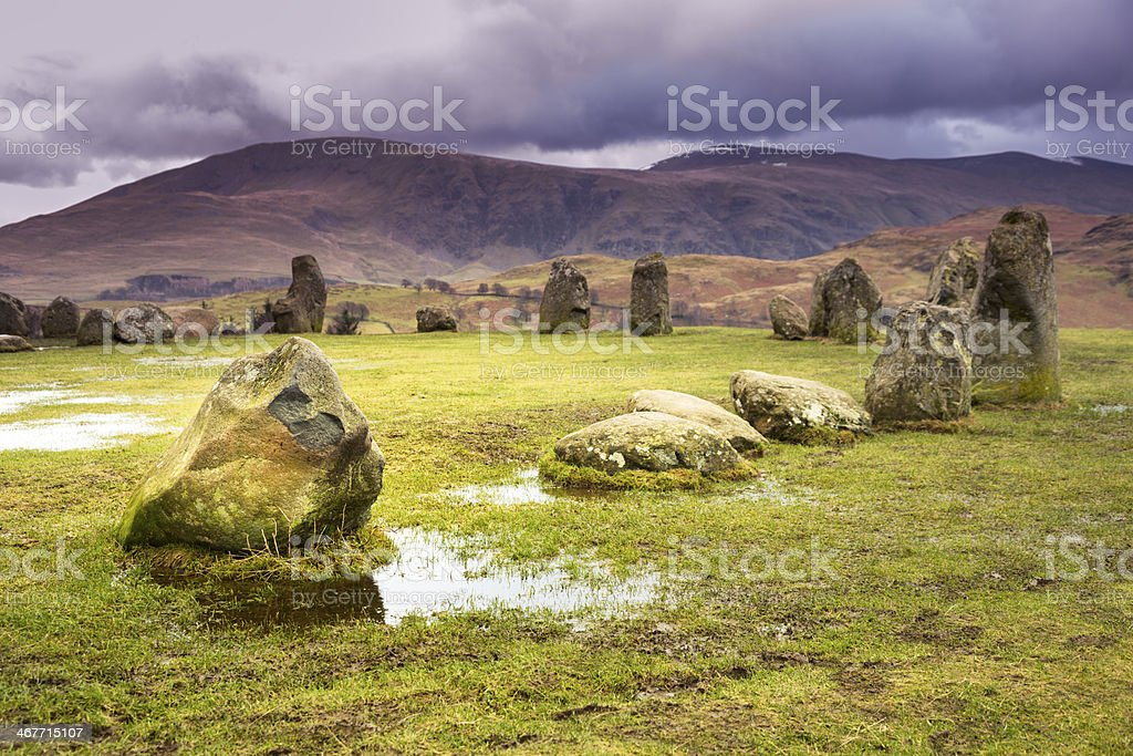 Castlerigg Stone Circle royalty-free stock photo