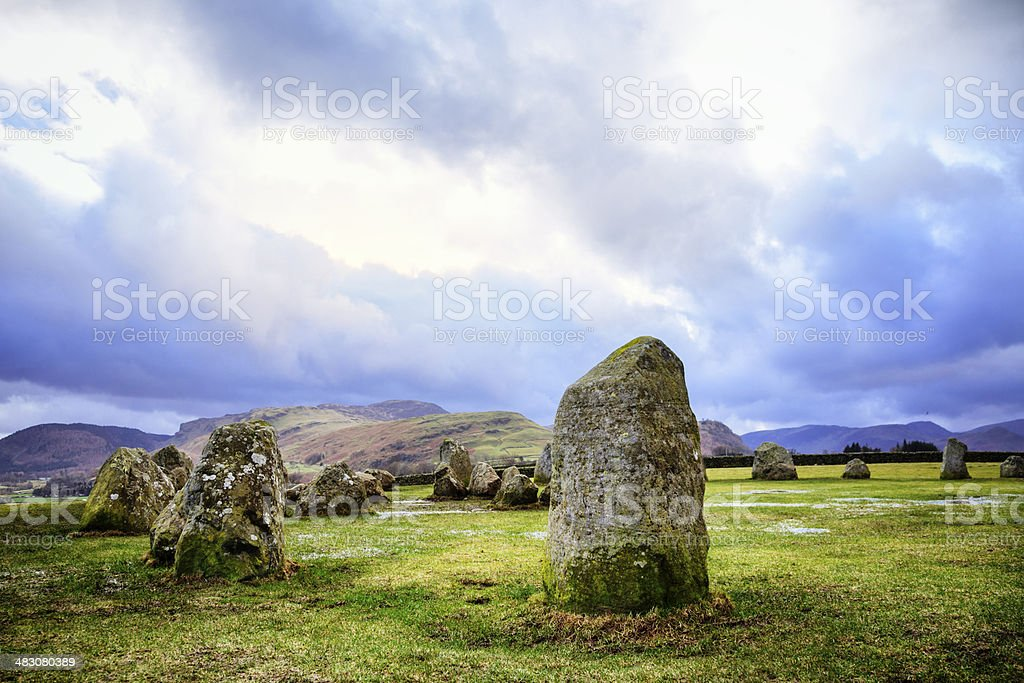 Castlerigg Stone Circle royalty-free stock photo