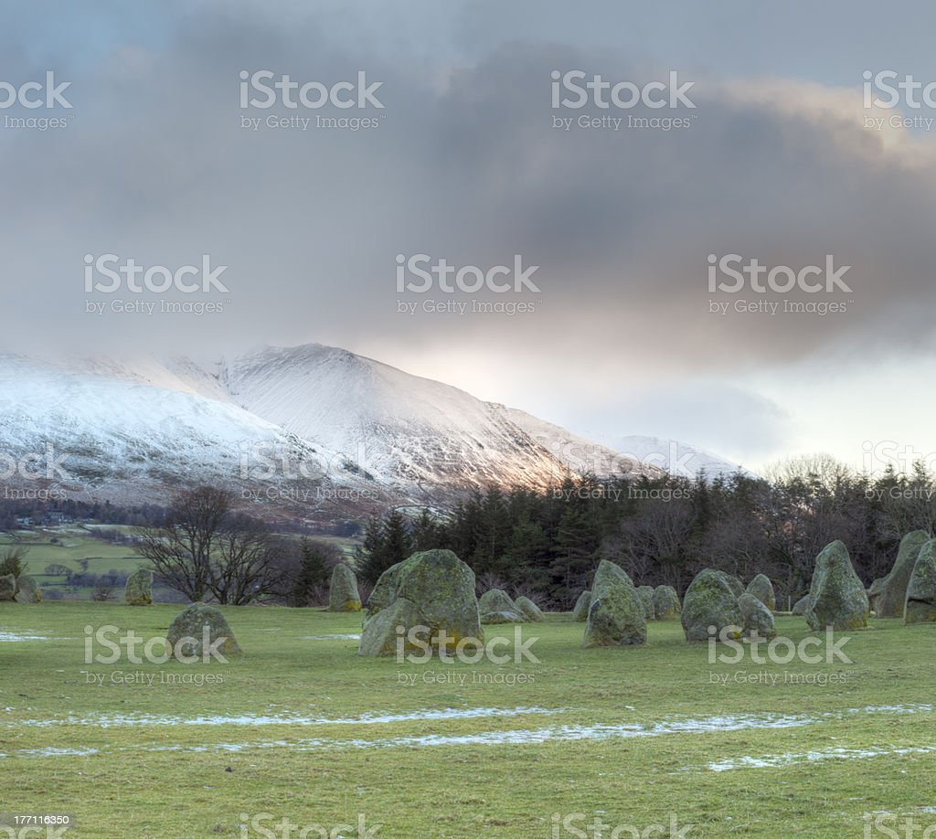 Castlerigg Stone Circle Sunrise royalty-free stock photo