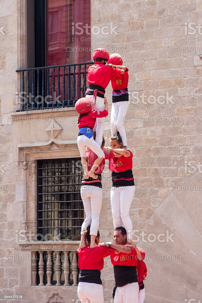 Castles Human Tower stock photo
