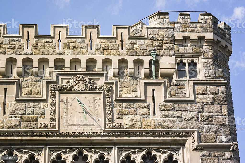 castle's sun-dial royalty-free stock photo
