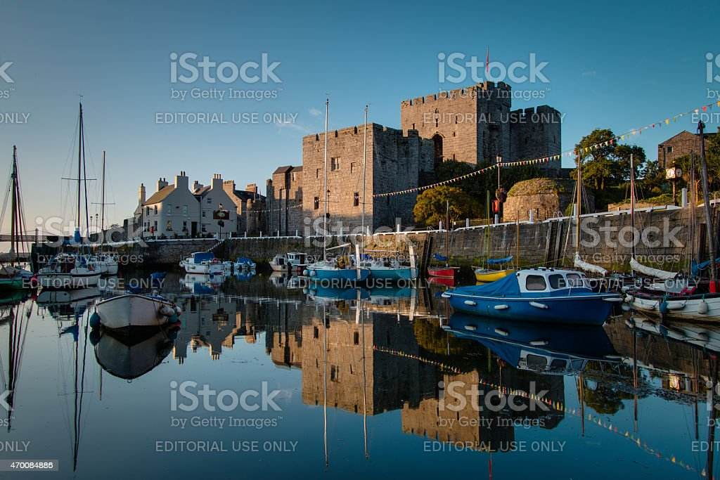 Castletown Harbour in the Isle of Man stock photo