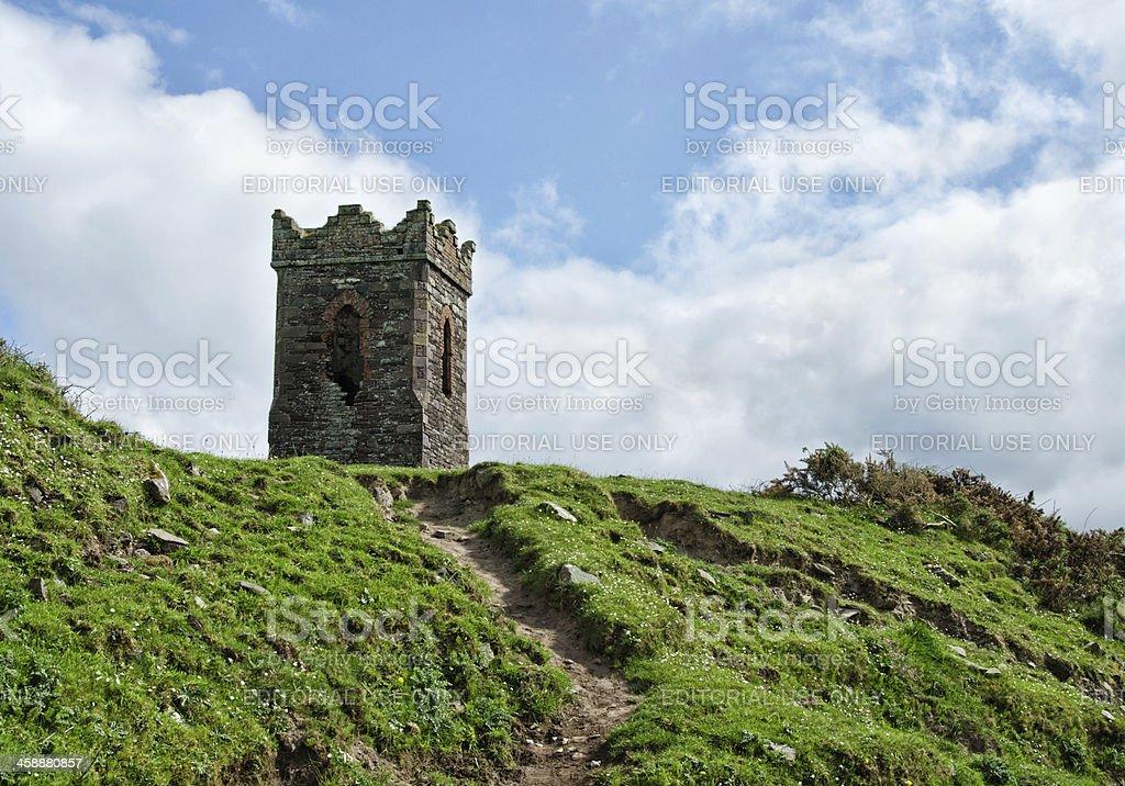 Castle-type tower near Dingle, Ireland royalty-free stock photo