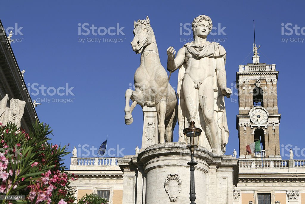 Castor or Pollux in Rome, Italy royalty-free stock photo