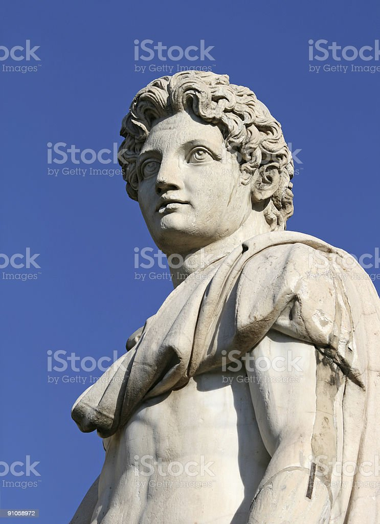 Castor or Pollux in Rome royalty-free stock photo
