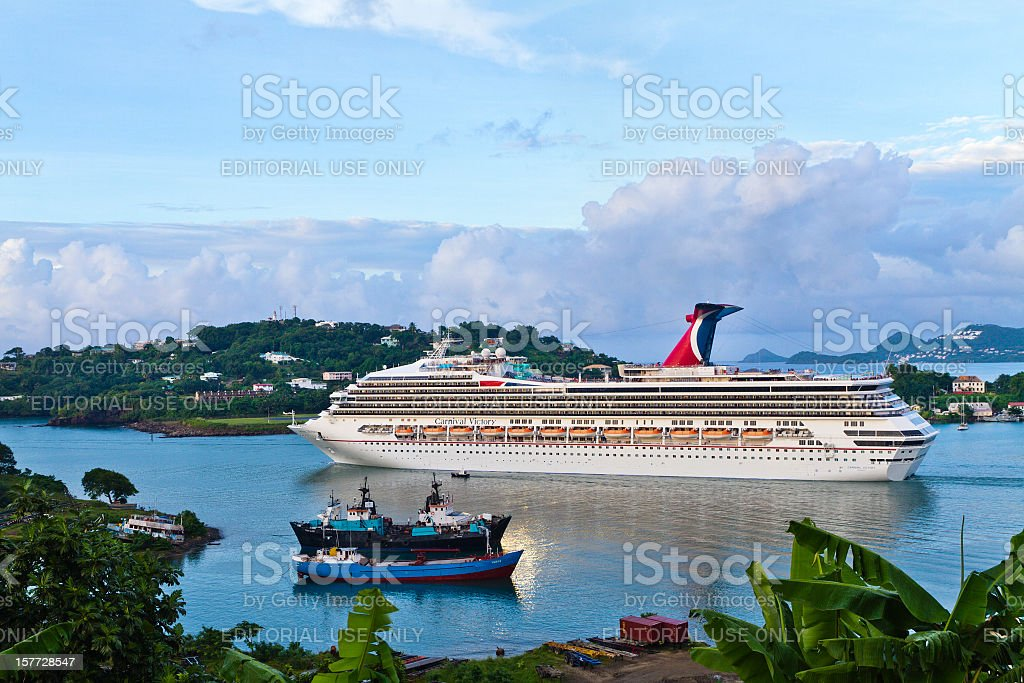 Castries Harbor, Saint Lucia stock photo