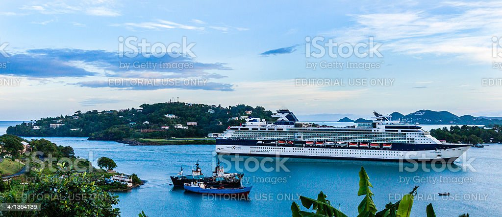 Castries Harbor, St. Lucia stock photo
