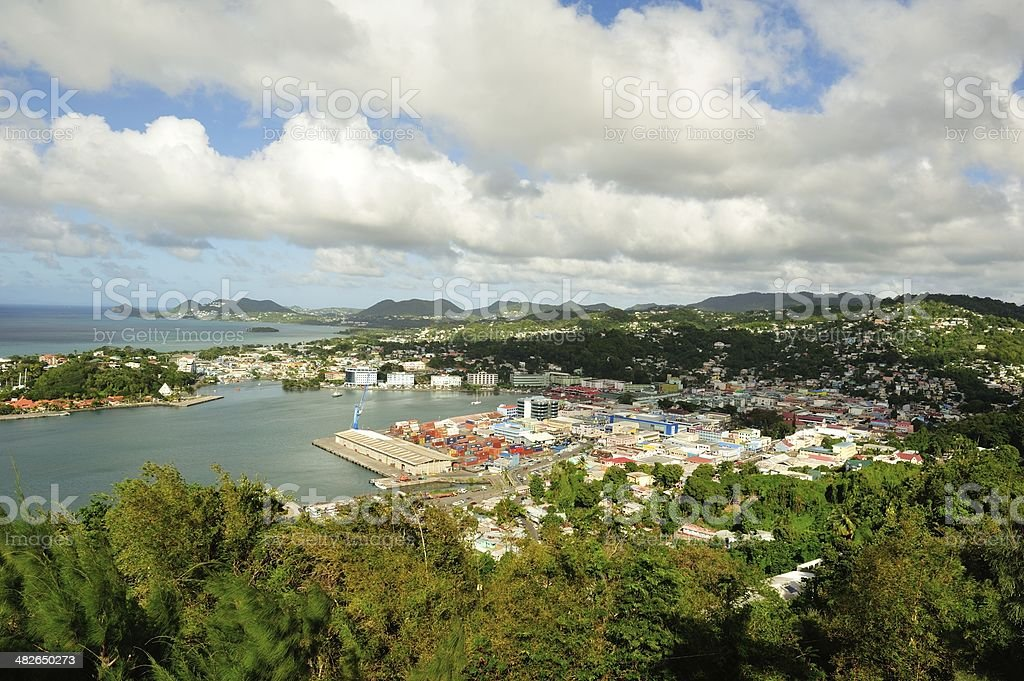 Castries Harbour, St. Lucia stock photo