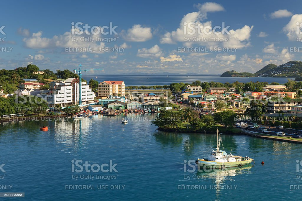 Castries Waterfront stock photo